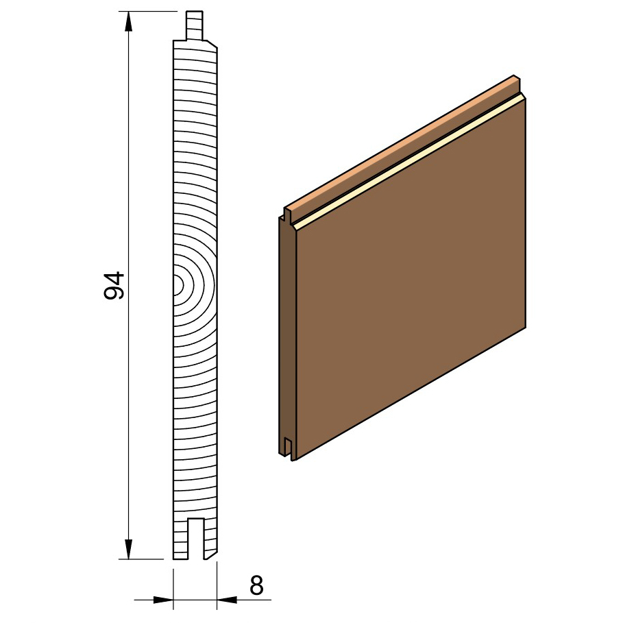 13 x 100 PTGVJ (Oak & Softwood)