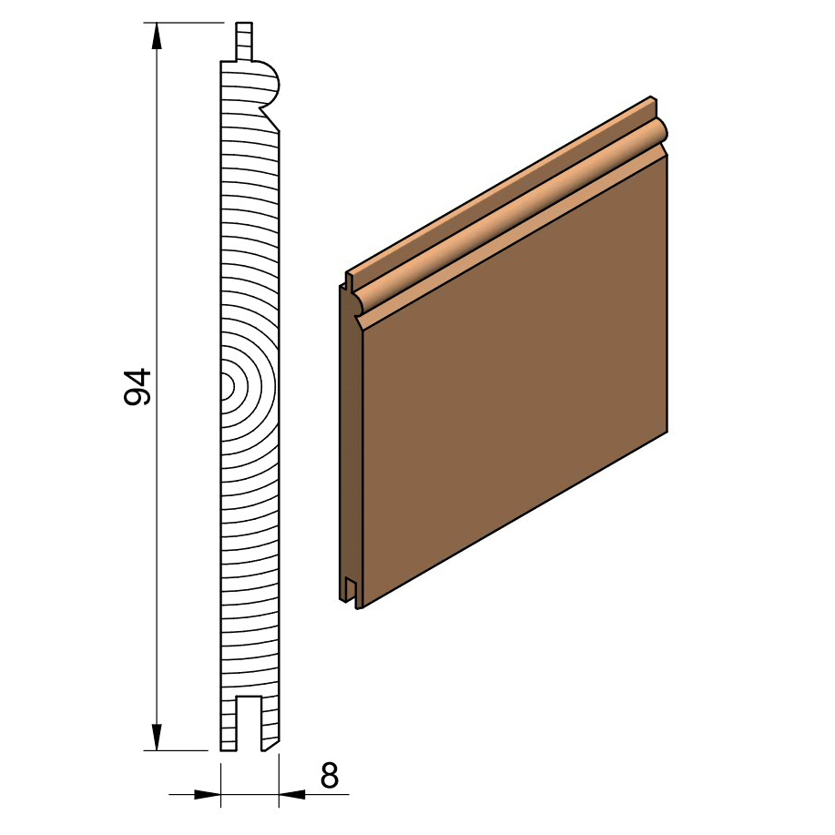 13 x 100 PTGVJ Beaded (Oak & Softwood)