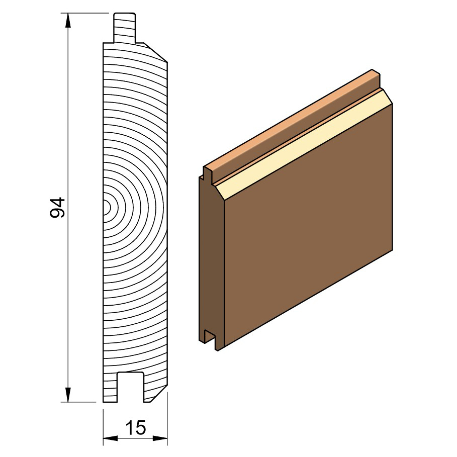 19 x 100 PTGVJ (Cedar & Softwood)