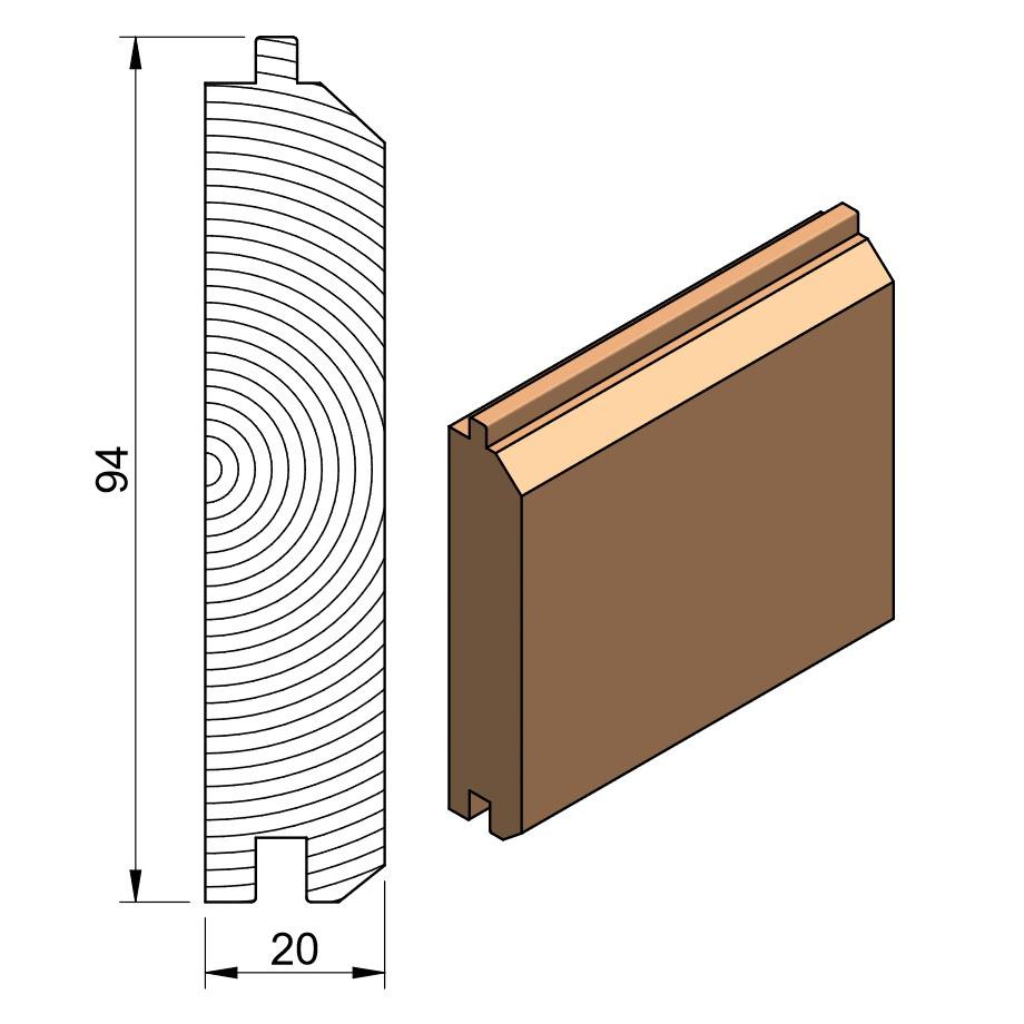 25 x 100 Softwood PTGVJ