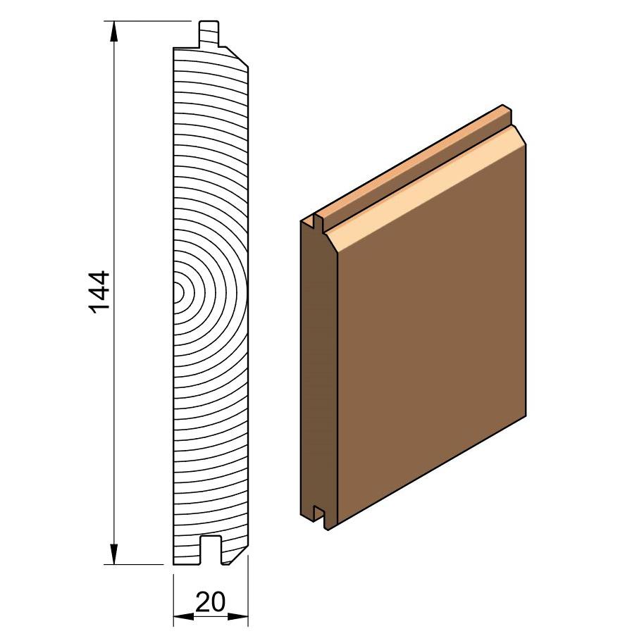 25 x 150 PTGVJ (Cedar & Larch)