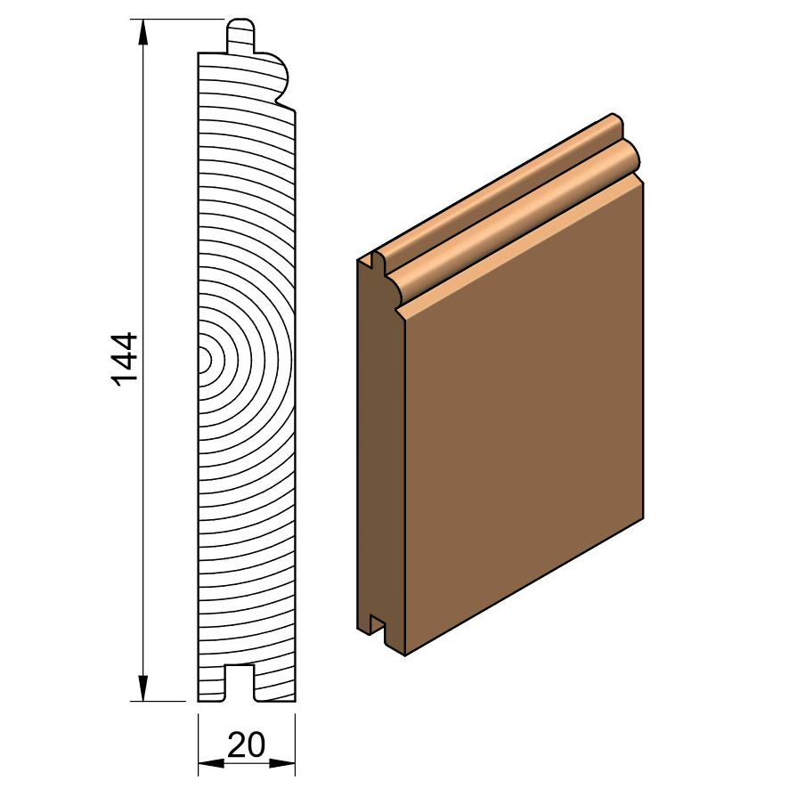 25 x 150 Softwood PTG Bead & Butt