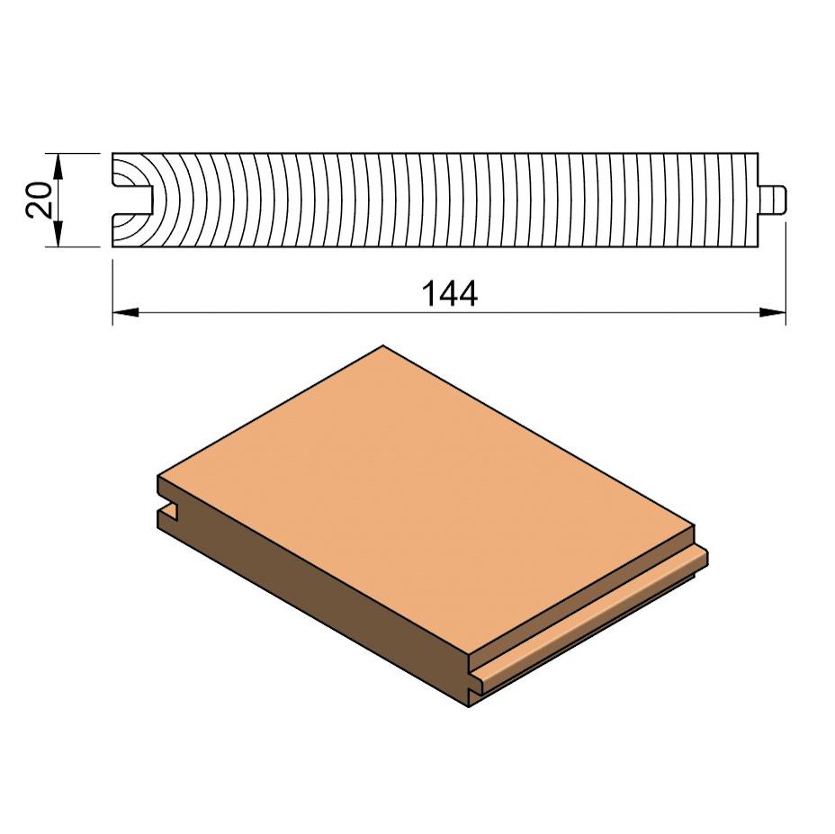 25 x 150 Softwood PTG