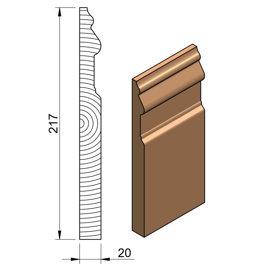 25 x 225 Softwood Regal Skirting